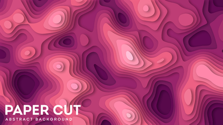 Abstract background with paper cut out layers. Vector illustration. Material design. Paper cutting texture. Applicable for business banner, flyer, poster, brochure design eps 10