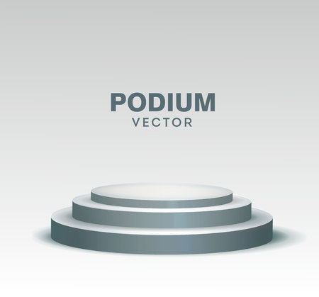 Round stage podium isolated on white background. Vector illustration. eps 10