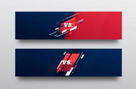 VS . Versus Board of rivals, with space for text. vector illustration. Grey vs banner. football, basketball, soccer screen. vector illustration. yellow. in dark background Illustration
