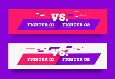 VS Logo. Versus Board of rivals, with space for text. vector illustration. Grey vs banner. football, basketball, soccer screen. vector illustration. yellow. in dark background