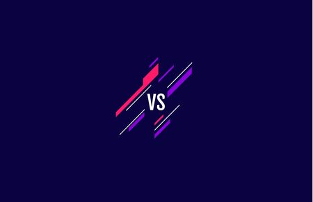 versus  vs letters for sports and fight competition. MMA, Battle, vs match, game concept competitive vs.