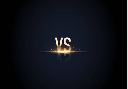 versus  vs letters for sports and fight competition. Battle vs match, game concept competitive vs