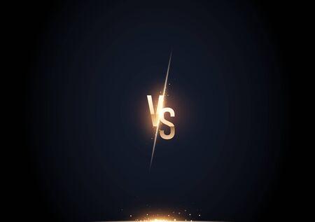 Versus vs background, Battle vs match, game concept competitive vs. VS gold sign.