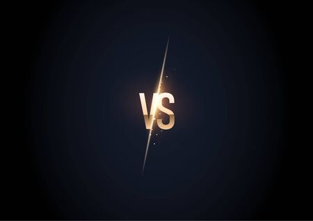 versus  vs letters for sports and fight competition. MMA, UFS, Battle, vs match, game concept competitive vs.Vector illustration Stockfoto - 134538417