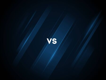 versus vs letters for sports and fight competition. MMA, Battle, vs match, game concept competitive vs. Blue neon. Stockfoto - 134538418