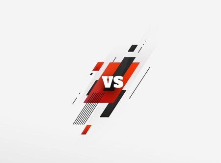 versus vs letters for sports and fight competition. MMA, UFS, Battle, vs match, game concept competitive vs. with simple graphic elements. blue.