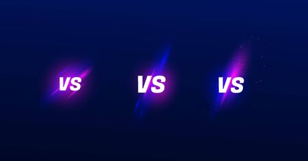 Set of versus vs letters for sports and fight competition. MMA, Battle, vs match, game concept competitive vs. Stock Illustratie