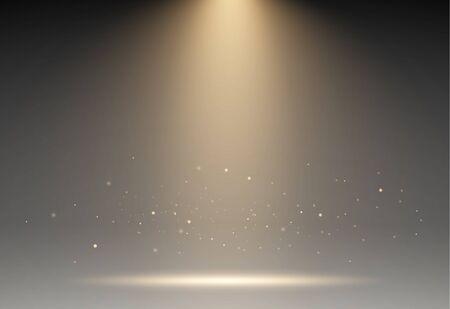 stage, light, spotlight, empty scene illustration easy all editable. vector illustration