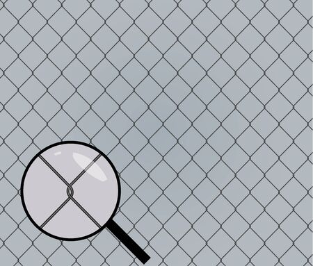 Seamless chainlink fence. Metal mesh. Vector illustration. Stock Illustratie