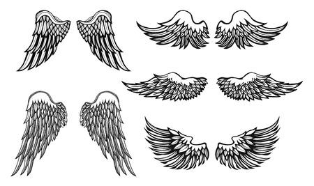 Artistieke vector zwart-wit tattoo vector set Stock Illustratie