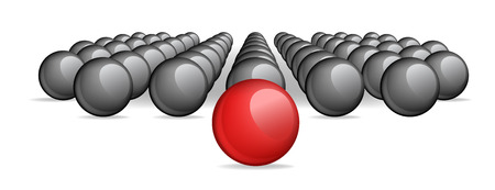aberrant: Follow the leader, Unique red ball Vector image