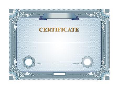 ビンテージ境界線を持つ証明書またはクーポン テンプレート  イラスト・ベクター素材