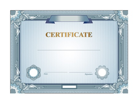 Certificate or coupon template with vintage border Illustration