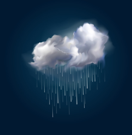 Very realistic vector cloud and rain, possible to change the size. Фото со стока - 38739888