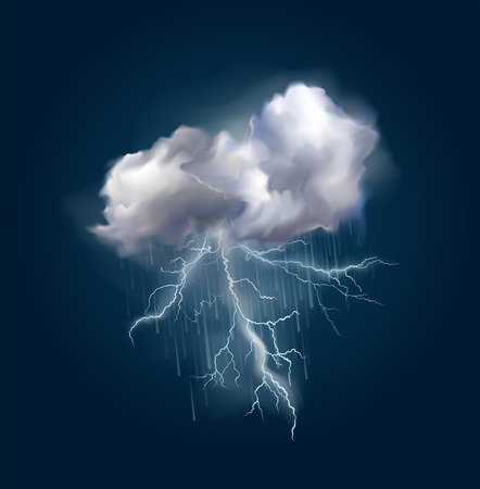Very realistic vector cloud and lightnings, possible to change the size.