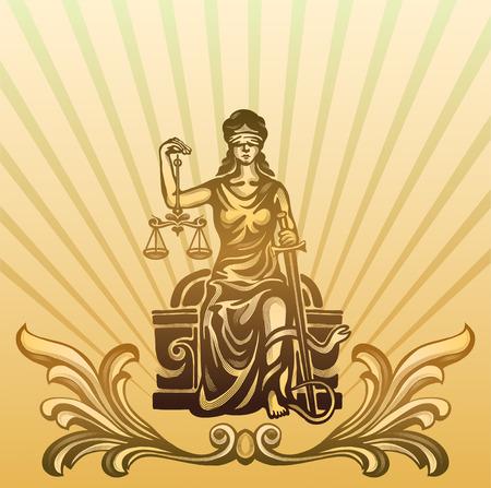 femida: Femida - lady justice,  graphic vector illustration