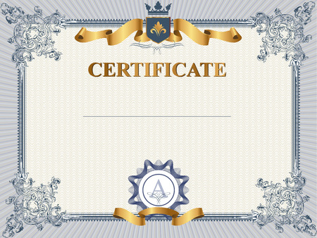 Certificate or coupon template with vintage border Vectores