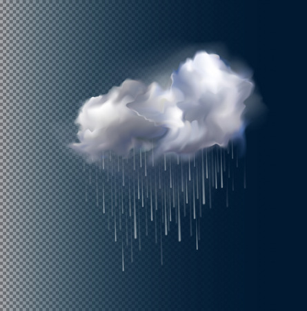 Very realistic vector cloud and rain, possible to change the size. Vector