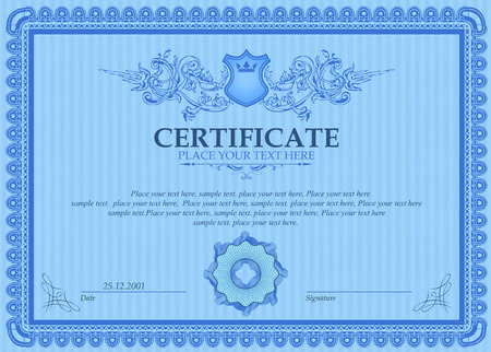 certificate border: Certificate or coupon template with vintage border Illustration