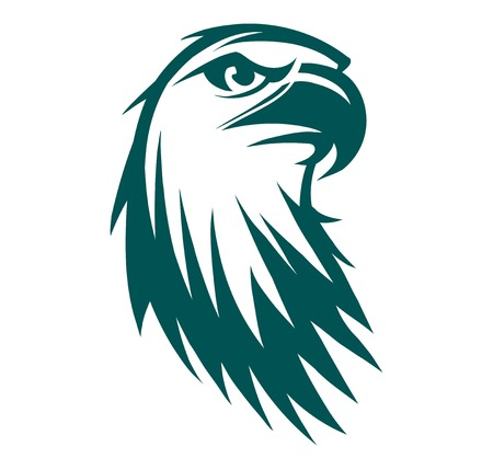 hawks: Engraving stylized Eagle symbol ready for use as a design element
