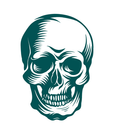 all saint day: The art of a skull, possible for use as a tattoo. Vector image.