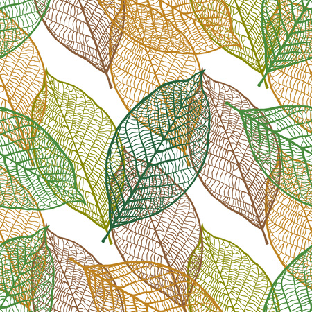 ornamental pattern: Seamless texture with vintage ornamental leaves. Vector pattern