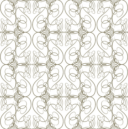 calligraphical: Seamless texture with vintage calligraphical elements. Vector pattern Illustration