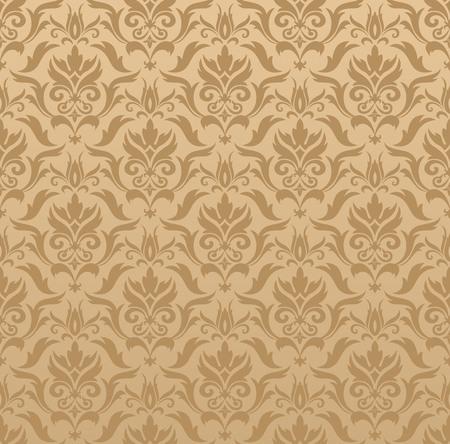 Damask seamless pattern. Ilustração