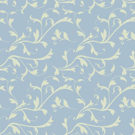 Naadloze achtergrond van bloemen, bloemen illustratie in vintage stijl Stock Illustratie