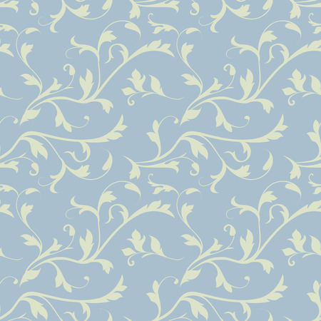 scroll tracery: Seamless floral background, floral illustration in vintage style Illustration