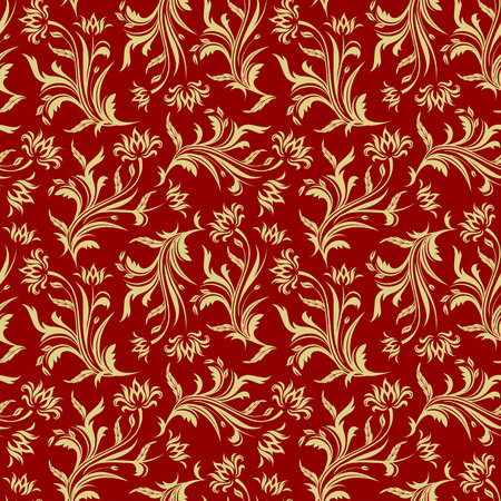 Floral seamless pattern, floral illustration in vintage style