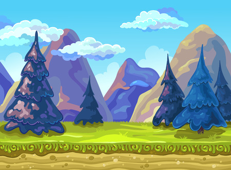 Landscape, Vector illustration.