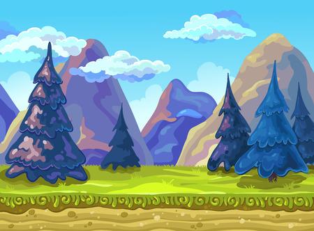 Landschap, Vector illustratie.