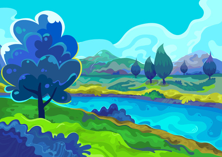 Landscape illustration.