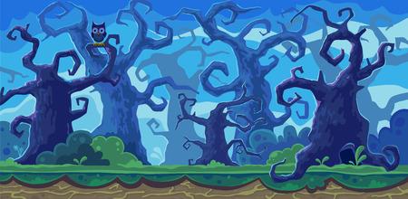 Vectorbeeldverhaalillustratie van het feebos