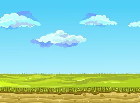 Naadloze Landschap, Vector illustratie