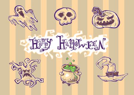 Halloween grunge illusraties Stock Illustratie