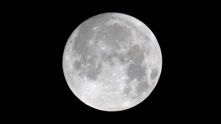 Close up of the moon