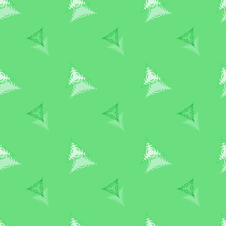 Seamless background pattern with various colored triangles.