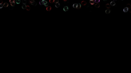 Background with a variety of multi-colored translucent soap bubbles.