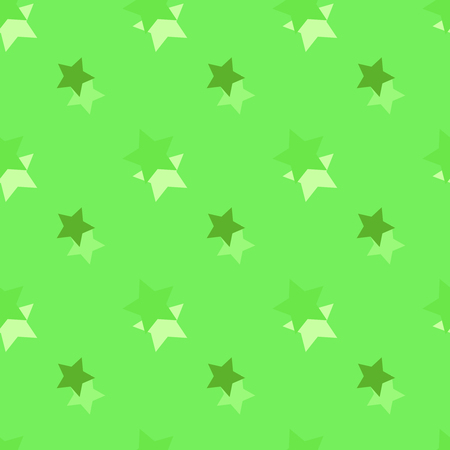 Seamless background pattern with colored diverse stars. Stock Photo