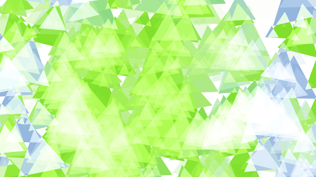 Abstract background with various multicolored triangles. Big and small.