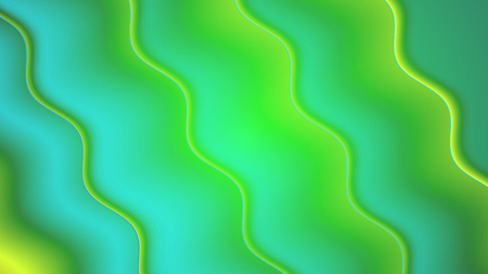 Background with a variety of multicolored waves in a paper style.