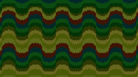 Background with a knitted texture, imitation of wool. Multicolored diverse lines. Stock Photo