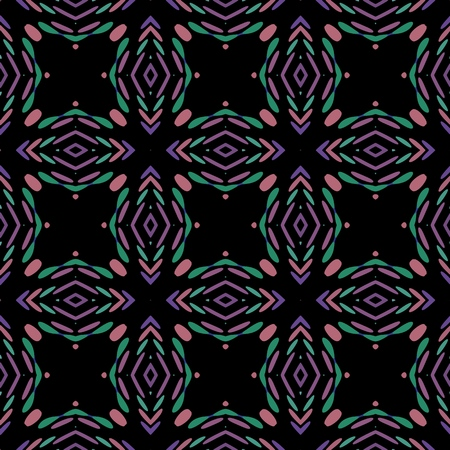 Seamless background pattern with a variety of multicolored lines. Ilustração