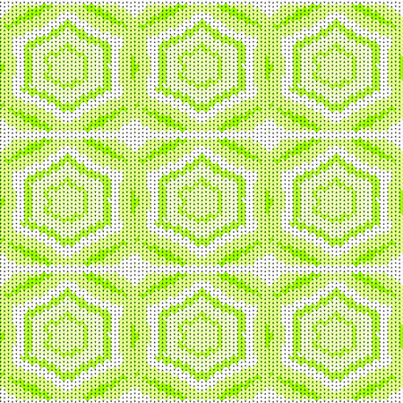 Seamless background with a knitted texture, imitation of wool. A variety of different patterns. Stock Photo