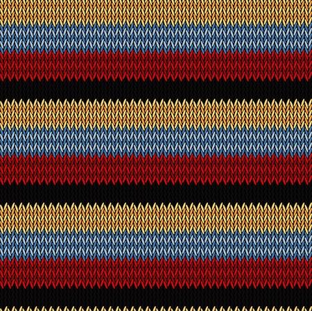 Nahtloses Hintergrundmuster. Gestrickte mehrfarbige Textur. Geometrie, Linien, Muster.
