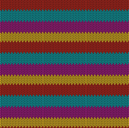 Seamless background pattern. Knitted multicolored texture. Geometry, lines, patterns. Stock Vector - 122832286