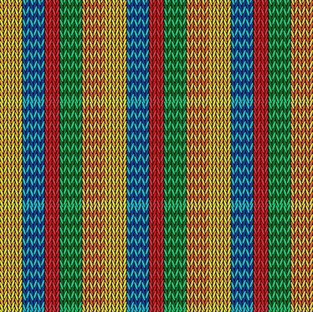 Seamless background pattern. Knitted multicolored texture. Geometry, lines, patterns. Stock Vector - 122571777