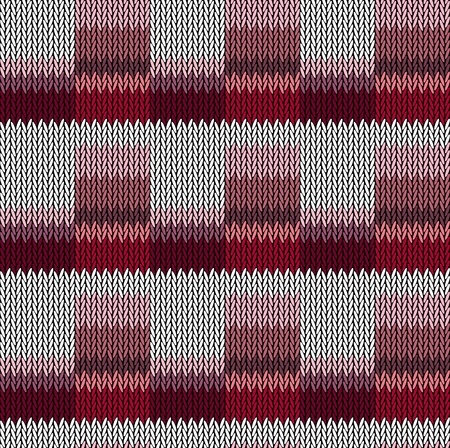 Seamless background pattern. Knitted multicolored texture. Geometry, lines, patterns. 일러스트